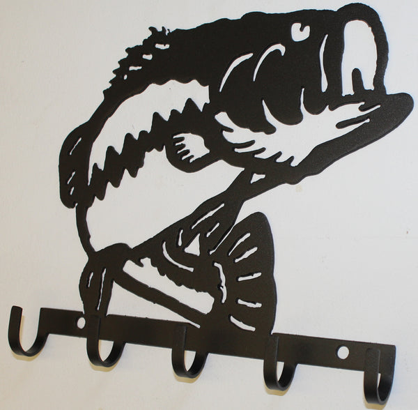 Bass Key Holder Metal Wall Art