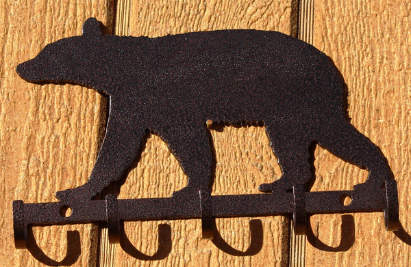 Bear Key Holder Metal Wall Art