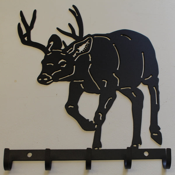 Buck Key Holder Metal Wall Art