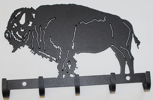 Buffalo Key Holder Metal Wall Art