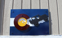Colorado Flag with Jeep Metal Wall Art