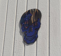 Skull with Dodge Logo Metal Wall Art
