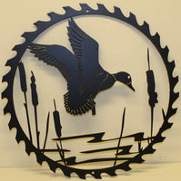 Duck Sawblade Metal Wall Art- Flat Black