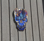 Skull with Ford Logo Metal Wall Art