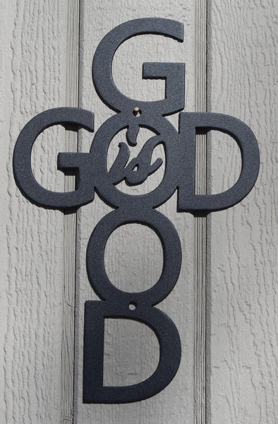 God Is Good Metal Wall Art