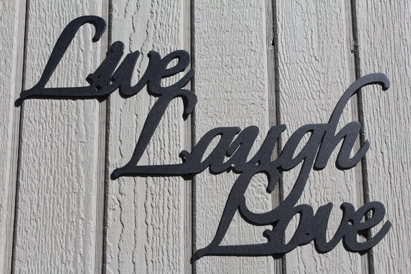 Live Laugh Love Metal Word Art Wall Decor