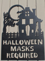 Halloween Masks Required Metal Art