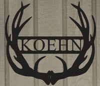 Customized Antler Last Name Monogram