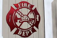 Firefighter Maltese Cross Metal Wall Art