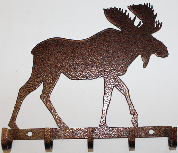 Moose Key Holder Metal Wall Art