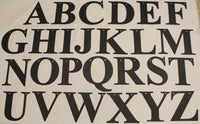 Times New Roman Metal Letters Flat Black