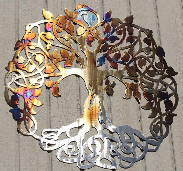 Tree Of Life 3 Metal Wall Art Heat Treated Holt S Home Decor