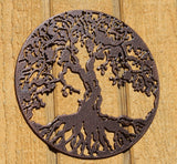 Tree of Life Metal Wall Art Copper Vein