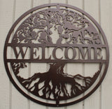 Tree of Life Welcome Sign