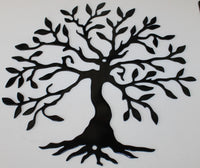 Tree of Life 2 Metal Wall Art- Gloss Black