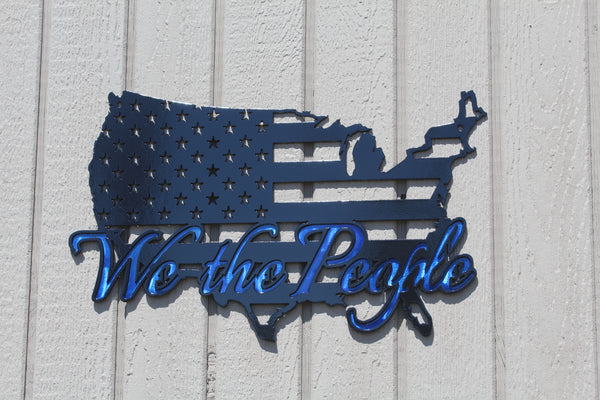 We the People American Flag in USA