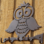 Owl Key Holder Metal Wall Art