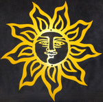 Yellow Sun Metal Wall Art Home Decor