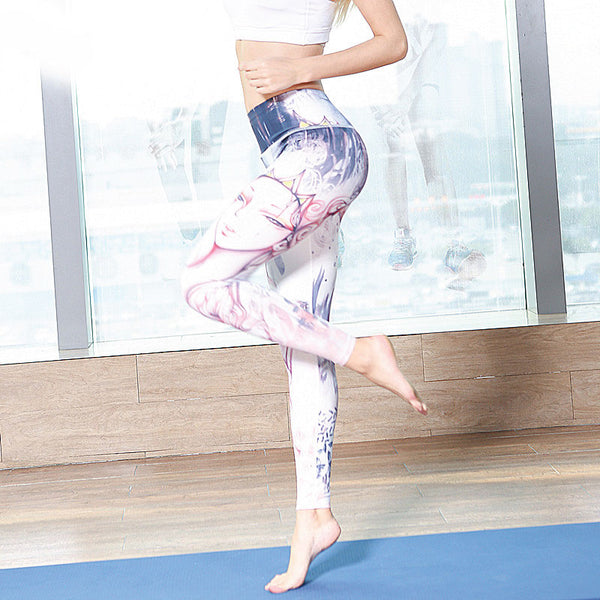 Anti-sweat Compression High Waist Printed Yoga Pant