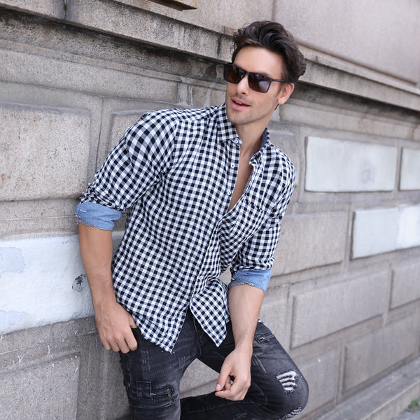 Casual Loose Style Plaid Shirt