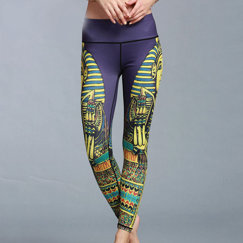High Waist Breathable Print Yoga  Pant