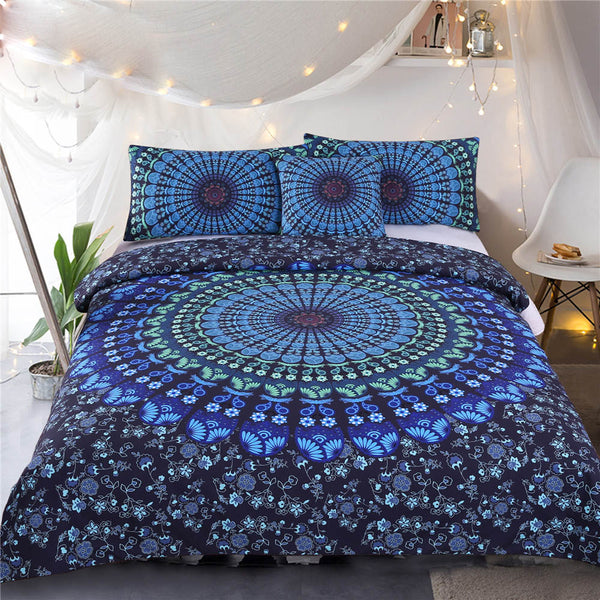 MANDALA BOHEMIAN BLUE DUVET COVER SET