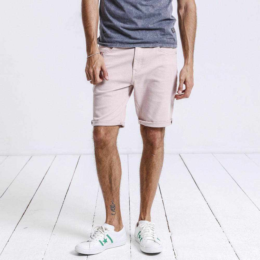 Men Knee Length Cotton Short - PINK OR GREEN