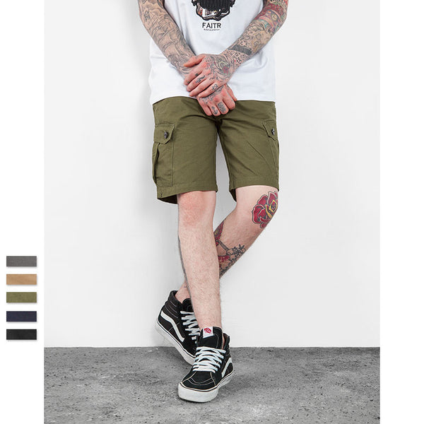 Men's Cotton Loose Fit Multi Pocket Cargo Short