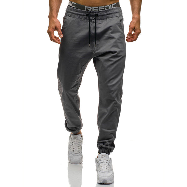 New Fashion Slim Solid Elasticity Men Casual Pant