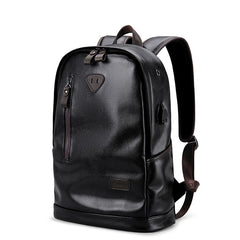 Show me Your Backpack - Leather Male Functional Backpack