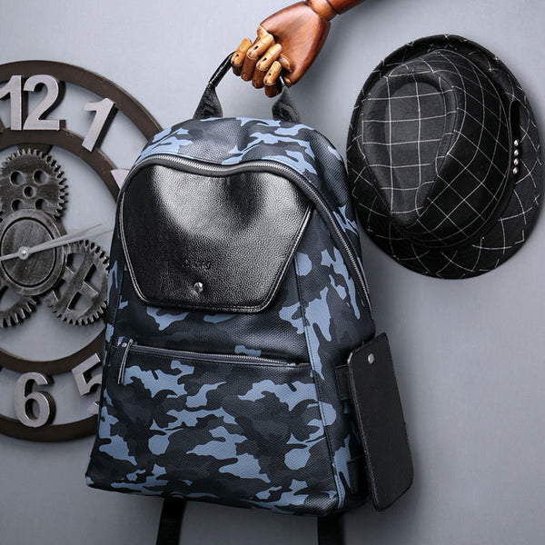 Show me your Camouflage Backpack - Leather Waterproof Backpack