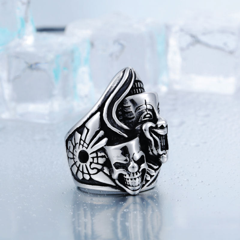 "The ""Happiness and sadness"" 316L Stainless Steel Ring"
