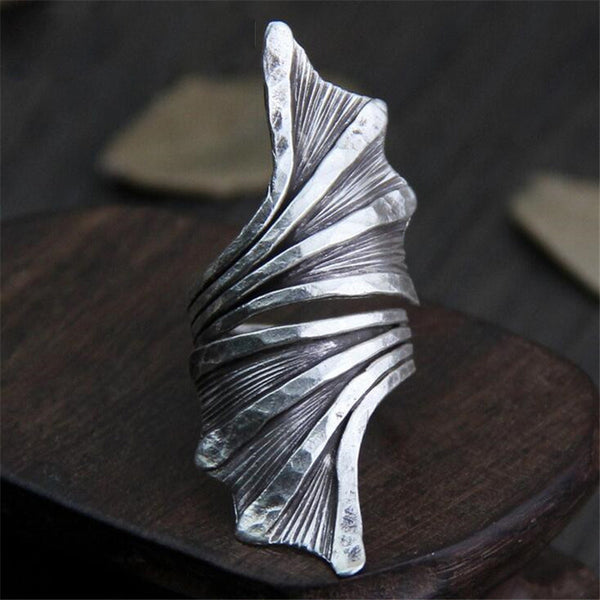 The Hiding Angel - Antique Thai Silver Ring