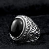 "The ""Navajo Stone"" 316L Stainless Steel Ring"