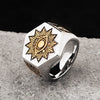The Eye of Providence hexagon Masonic Stainless steel Ring