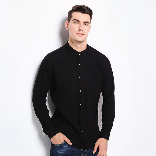 Top Grade Casual Shirt - Slim Fit - Mandarin Collar - 4 Colors