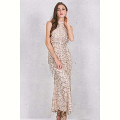 Women's Apparel Elegant Sequin Tassel Maxi Mermaid Dress