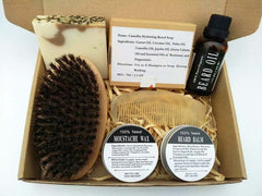 Best Gift Set - Natural & Organic Beard Oil with Beard Comb