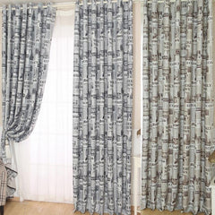 Newspapers Pattern Door Window Curtain - Size 200cm x 100 cm