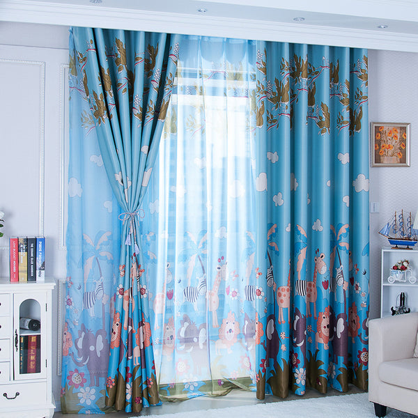 Animal Paradise Print Shading Curtain  Door Window Curtain 150x270cm