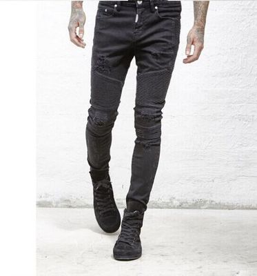 Men's Skinny Ripped Jean - Black or Sky Blue