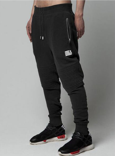 Men's Jogger Feet  Sweatpant -Black