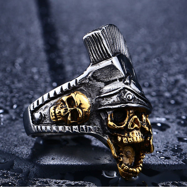 Punk Rome Fighter Stainless Steel Ring