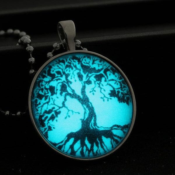 Tree of Life locket Glow in Dark Pendant Necklace