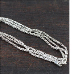 Multi Twisted 100% real 925 sterling silver necklace chain for men