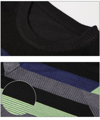 Men's O-Neck Sweater - Wool Cashmere - Blue or Purple