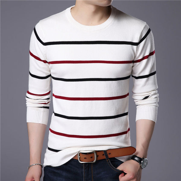 Men's O-Neck Sweater  - Cashmere Wool - 3 Colors