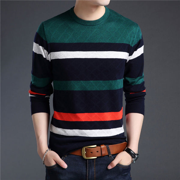 Men's Sweater - Cashmere Pullover - Blue or Red