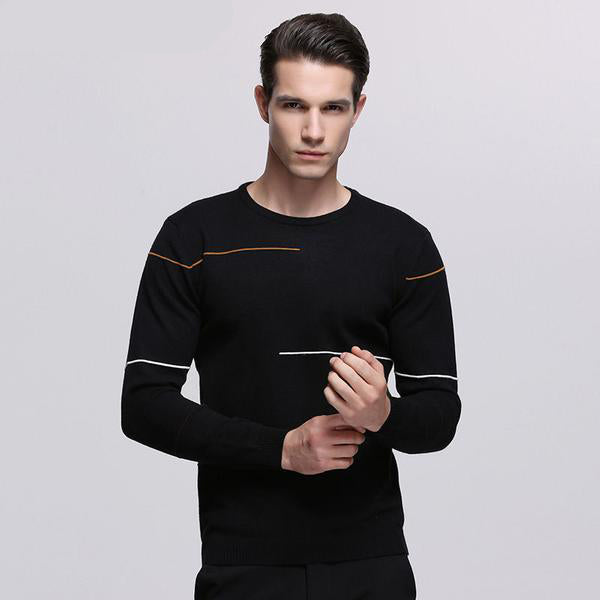 Men's Sweater - Cashmere Wool - Black Or Grey