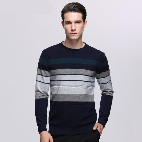 High- Grade Men's Sweater - Knitted Wool - 3 Colors